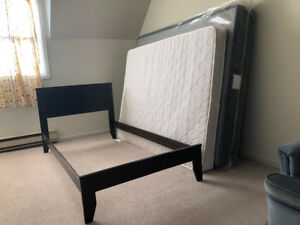 Queen size Boxspring, Twin Bed frame and Double size mattress .