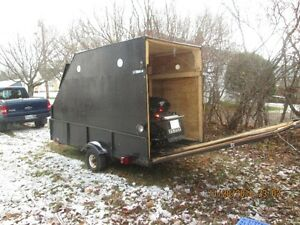 enclosed snowmobile/utility trailer