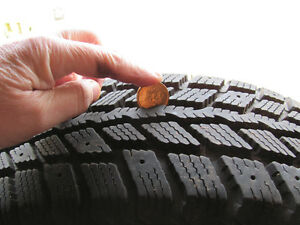 Set of 4 tires + rims----2 New winter tires + 2 all season