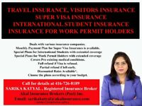 VISITORS INSURANCE, SUPER VISA INSURANCE, TRAVEL INSURANCE,