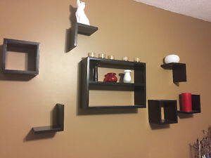 Set of 7 wall shelves and boxes Strathcona County Edmonton Area image 1