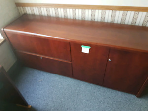 Solid wood file cabinet and cupboard