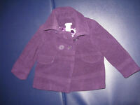 Joe Fresh Girl's Purple Fall Coat - Size 2