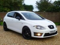 2010 10, Seat Leon 2.0 TDI FR 170 BHP 5 Door Hatchback manual ++ CANDY WHITE