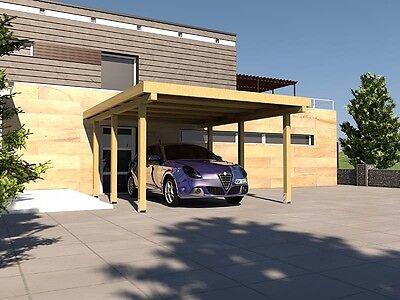 Carport Flachdach SILVERSTONE XIII 400 x 500 cm Bausatz + Beschläge
