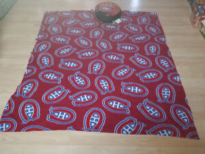 Montreal Canadiens blanket and pillow.. $7 for both. 2264489639