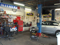 MECHANIC SHOP IN GREAT LOCATION FOR RENT & SHOP'S TOOLS FOR SALE
