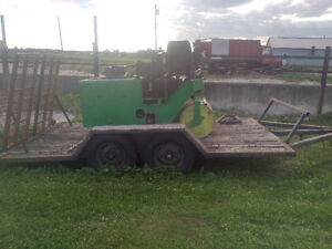 3 tonne roller and trailer