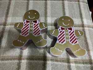 2 Gingerbread Tins $4