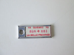 La Belle Province Collectible Key Tag mini license plate