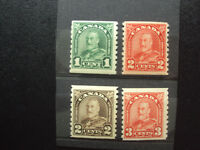 Can. #179,181,182,183 Mint  F-VF, Coil Stamps 2014 CV over $ 130