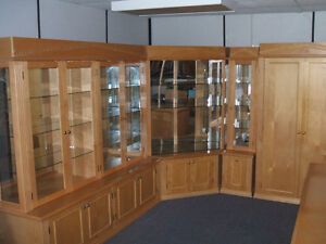 CUSTOM BUILT DISPLAY UNIT PINE WITH GLASS AND LIGHTS Kitchener / Waterloo Kitchener Area image 1