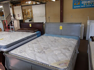 Beds of all kinds, box and mattress sets, Head foot and rails