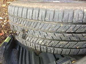 Two Yokohama Geolander 225/55R17 tires