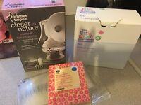 Tommee Tippee breast pump milk storage bags & pads breast feeding