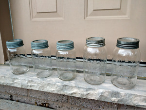 Antique Crown Canning Jars