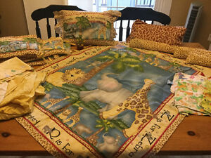 Jungle bedding lot