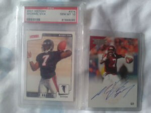 2 Michael Vick football cards for sale ......