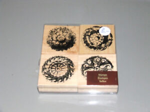 4 Craft Stamps & Ink Pad - USED  ONLY  ONCE - $15.00