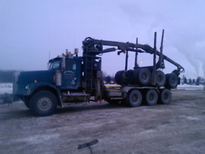 Self loading log truck / picker truck