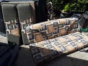 Travel trailer Flip out sofa bed and dinette cushions