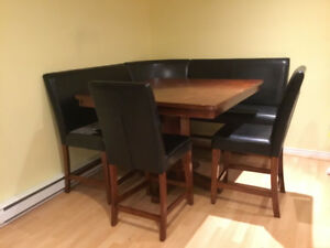 Large Dinette Corner Booth Set