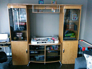 Wall unit approx 8'wide x 6' high x 2' it is 4 pieces $125 OBO