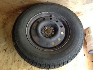 Winter tires on rims -excellent condition