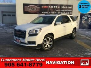 2015 GMC Acadia SLT1  AWD NAV ROOF LEATH LD CW BOSE CAM P/GATE 7