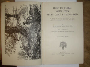 Antique Book on Fly Rod Building