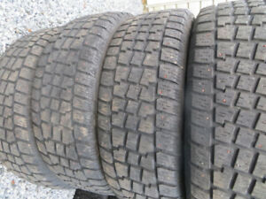 4 p225/65r17 studded cooper avalanche winter tires