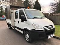 2008 08 IVECO-FORD DAILY 3.0 50C CREW CAB TIPPER * TOOL BOX * CAGE * DIESEL