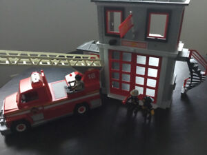 Playmobil Fire Truck and Fire Station