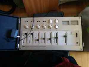 Vintage AKAI 6 channel stereo microphone mixer MM-62