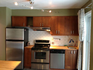 Large lower duplex in NDG, 2 bedrooms with garage and large yard