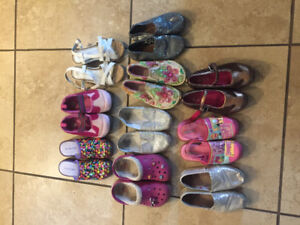Girls Size 12/13 Shoes - Crocs, Bobs, Stride Rite+++