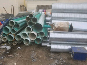 Galvanized Ducts And Pvc Pipes Available For Cheap
