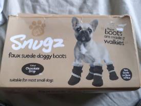 Dog shoes.