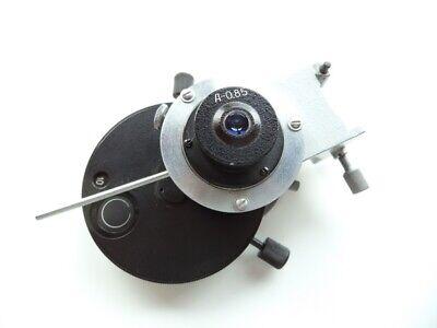 Condenser For Phase Contrast Dark Field Polarization With Bracket Microscope