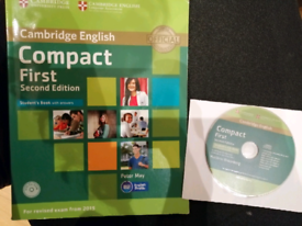 Compact First. Fce preparation BOOK + CD very GOOD CONDITION