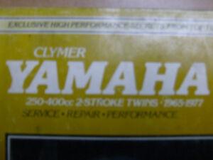 YAMAHA 250-400cc TWO STROKE CLYMER WORKSHOP MANUAL
