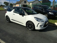 61 CITROEN DS3 1.6E-HDI AIRDREAM D STYLE+ WHITE/BLACK ROOF 38K FREE ROAD TAX