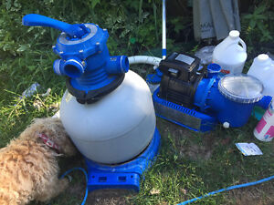 Sand filter and pump.