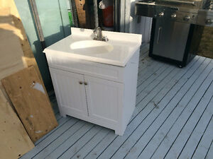 ***NEW WHITE BATHROOM VANITY FOR CHEAP***