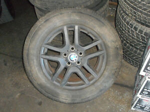 "(4) 17"" BMW X5 rims with tires size 225/65/R17"