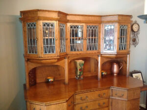 Antique Buffet & Hutch German - circa 1890's