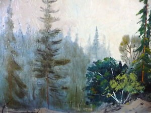 "Algonquin, Original Oil Painting by R. Dogger ""Wild River"" 1950 Stratford Kitchener Area image 6"