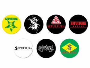 Lot Pack Badge Button Ø38mm Logo Hard Rock Bands Groupe