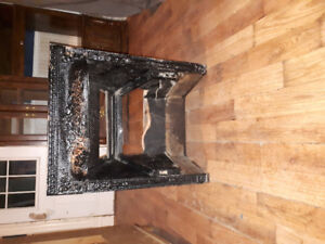 Cast Iron fireplace insert.   $200.00 OBO.