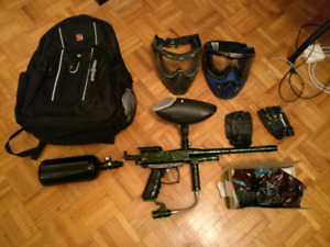 spyder rodeo paint ball and accessories mint condition.